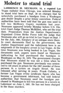 Mobster To Stand Trial (Larry Neumann)