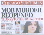 Front page of Chicago Sun Times Article