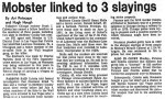 "1982 Newspaper Article ""Mobster Linked to 3 Slayings"""