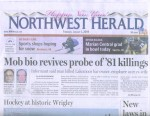 Northwest Herald Article Front Page - January 1, 2009