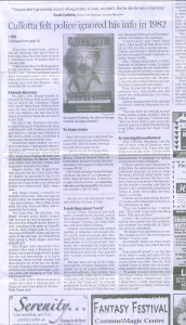 Full Page Article in Northwest Herald - January 1, 2009