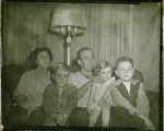 Ron's mother, Ron, Ron's father, his sister Darlene and his brother Bill (1949)