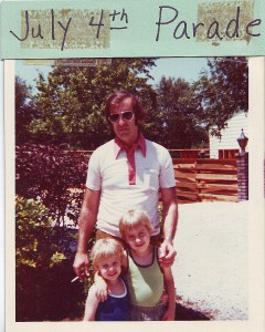 My father Ron Scharff, my brother Mike, and me on the of 4th of July, 1976