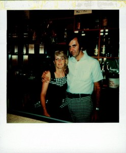 My mother and father, Ron and Kathy Scharff at our bar the PM Pub in 1977.