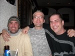 Bob Raycraft, Billy Thompson,and Paul Scharff at Dino's Den in Fox Lake, IL. February, 2009