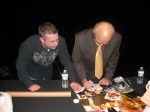 Frank Cullotta and Paul Scharff at the Clark County Library, Las Vegas, NV. January, 2011