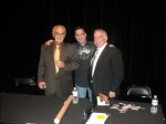 Frank Cullotta, Denny Griffin and Paul Scharff at the Clark County Library, Las Vegas, NV. January, 2011