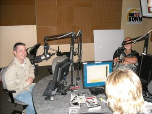 Frank Cullotta, Heidi Harris, and Paul Scharff at the Heidi Harris Show, KDWN Radio, Las Vegas, NV. June, 2009.