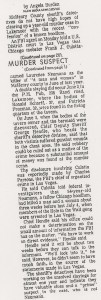 MURDER CHARGES SUSPECT