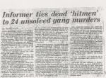 Four deceased hitman from the Chicago Outfit are linked to 24 unsolved murders by Frank Cullotta.