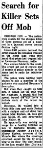 Monessen Daily Independent June 11th, 1956. In this article there was a false siting of Larry Neumann.