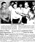 Oshkosh Daily Northwestern August 2nd, 1956. Larry Neumann is captured on August 1st for the triple murder he committed on June 8, 1956.