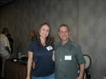 Elsy Palomares and Paul Scharff at Mob Con 2013 September 7th in Las Vegas.