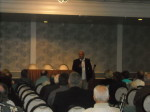 Former FBI agent Gary Magnesen speaking at Mob Con 2013 September 8th in Las Vegas.