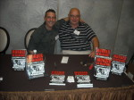 Paul Scharff and Keith Bettinger with their book MURDER IN MCHENRY at Mob Con 2013 September 7th in Las Vegas.
