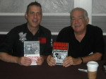 Paul Scharff and Dennis N. Griffin at Mob Con 2013 on September 8th. Denny is one of the best true crime authors in the country and a very good friend. Here we are holding up each others books at Mob Con.