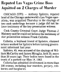 Another article on the acquittal of Tony Spilotro in the M&M murders.
