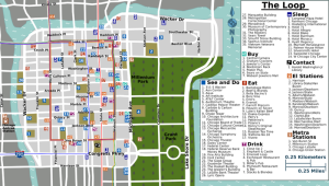 Map of the Chicago Loop