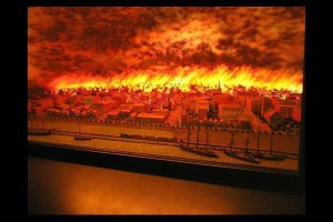 Image of the Great Chicago Fire of October 10th, 1871.