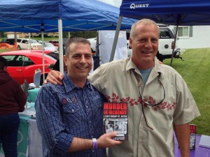 Paul Scharff and candidate for McHenry County Sheriff Bill Prim at Walla Pa Looza Cancer benefit in July of 2013.
