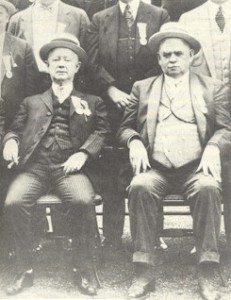 "Mike ""Hinky Dink"" Kenna and John ""Bathhouse Johnny"" Coughlin. Between the two of them, they ran the Chicago First Ward from 1893 to 1946."