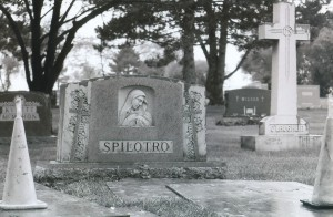 Tony and Michael Spilotro's Gravesite before they were buried at Queen of Heaven Cemetery in Hillside, IL.