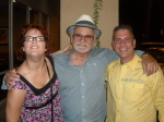 Alexandra Forry, Frank Cullotta, and Paul Scharff on the Vegas MOB Tour 2014 September 26th, 2014 after eating pizza in Las Vegas, Nevada.