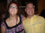 Alexandra Forry and Paul Scharff on the Vegas MOB Tour 2014 September 26th, 2014 after eating pizza in Las Vegas, Nevada.