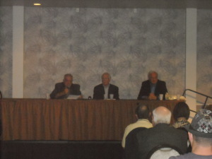 Dennis Griffin, Lawrence Leavitt, and Stan Hunterton speaking at MOB CON 2014 September 28th, 2014 at Palace Station Hotel and Casino Las Vegas, Nevada.