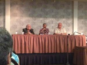 Dennis Griffin, Paul Scharff, and Keith Bettinger speaking at MON CON 2014 September 28th, 2014 at Palace Station Hotel and Casino Las Vegas Nevada.
