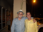 Frank Cullotta and Paul Scharff on the Vegas MOB TOUR 2014 September 26th, 2014 after eating pizza in Las Vegas, Nevada.