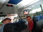 Frank Cullotta and Robert Allen on the Bus for the Vegas Mob Tour September 26th, 2014 Las Vegas Nevada.