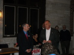 Paul Scharff and Bill Prim at November Fundraiser 2013 for Bill Prim for McHenry County Sheriff in McHenry, Illinois.