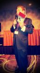 Robert Allen at MOB CON 2014 September 28th, 2014 with the book MURDER IN MCHENRY at Palace Station Hotel Casino Las Vegas Nevada.