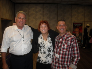 Ron Fino, Alexandra Forry, and Paul Scharff at MOB CON 2014 September 28th, 2014 at Palace Station Las Vegas Nevada.